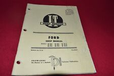 Ford 8000 8600 8700 9000 9600 9700 TW-10 TW-20 TW30 Tractor I&T Shop Manual SMPA