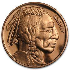 1 oncia Rame Copper 999 Medaglia di Moneta Indian Testa NUOVO Rari