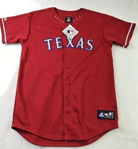 Majestic Woman's XL AUTHENTIC TEXAS RANGERS RED BASEBALL JERSEY New w/Tag