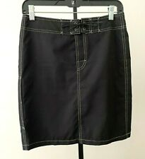 GUCCI Black Polyester Front Zipper Closure Pencil Skirt size US S (IT 40)