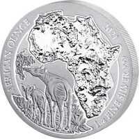 Rwanda Okapi 2021 1 oz Silver UNC African Ounce