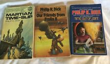 3 SF PBs Philip K. Dick Martian Time-Slip Our Friends From Frolix 8 Time...Joint