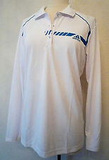 White Turq ADIDAS Climachill Tennis Golf Long-Sleeve Warmup Top Shirt $80 retail