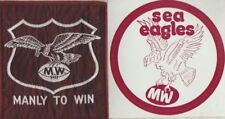 1970'sORIGINAL QRL MANLY:MANLY TO WIN  WOVEN PATCH Plus STICKER NEW Size 8 x 7cm