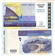 Madagascar 5000 ariary commemorativa 2007  pick 94  FDS  UNC  lotto 2778