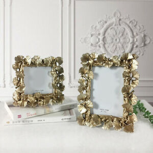 Vintage Baroque Style Antique Gold Ornate Photo Picture Frame Freestanding Gift