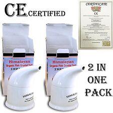 2x Himalayan Natural Salt Pipe/Inhaler + 200GM Salt Free CE Certied+UK product