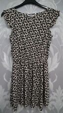 Pretty Biege dress with all over Black Butterfly Print from New Look age 13 Year