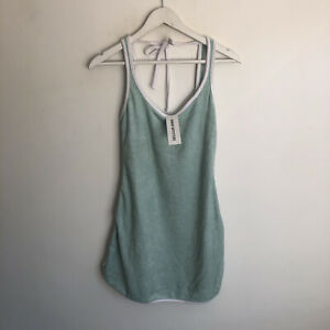 BNWT Urban Outfitters Blue White Towel Mini Dress Size S £42 8 10 Summer
