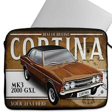 Personalised Laptop Cover FORD CORTINA MK3 2000 GXL Sleeve Classic Car CL12