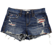 Hollister Blue Distressed Denim Shorts Junior's Size 3