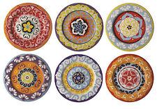 rose & Tulipani Nador 16.5cm côté plaques Ensemble de 6 multicolore grès CANAPE