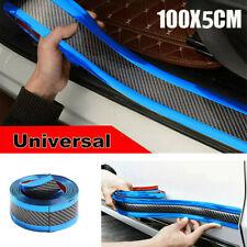 Car Carbon Fiber Blue Edge Guard Strip Door Sill Protector Accessories 5CM*1M