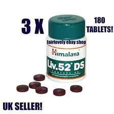 3 Jars x 60 Tablets Himalaya HERBAL Liv.52 Liver 52 DS DOUBLE STRENGTH UK SELLER