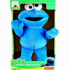 """Fisher Price,Sesame Street 15"""" Cookie Monster Plush Figure,Blue,Ages 12M- 4Y,New"""
