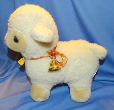 JERRY PETS Vintage Plush Stuffed Lamb...Original Tag...Vintage...Jerry Elsner