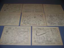 VINTAGE..BEECHCRAFT STAGGERWING 17/A17/B17/C17/D17/G17..4-VIEWS..RARE! (766E)