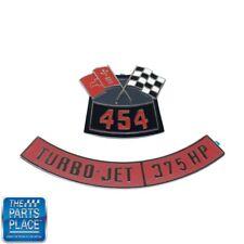 Chevrolet 454 Flags 375 Horsepower Air Cleaner Diecast Emblem Set