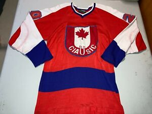 OLD VINTAGE CANADIAN UNIVERSITY CIAU DUREEN DURENE HOCKEY JERSEY DOUG LAURIE