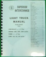 1948 1949 1950 1951 1952 1953 1954 1955 Ford Dodge Truck Interchange Manual