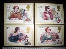 BRONTE FAMOUS AUTHORESSES SET 4 PHQ CARDS WITH FIRST DAY OF ISSUE STAMPS 9/7/80
