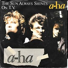 """45 TOURS / 7"""" SINGLE--A-HA--THE SUN ALWAYS SHINES ON T.V. / DRIFTWOOD--1985"""