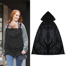 Baby Kids Outside Winter Rainproof Windproof Blanket  Carrier Cloak Cover Black
