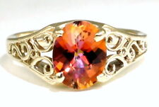 Twilight Fire Topaz, 10KY or 14KY Gold Ladies Ring-Handmade, R005