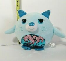 New with Tag Plush Paradise Blue Sequin Cat Plush Stuffed Toy