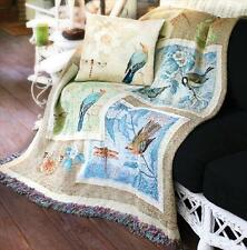 Nature's Sketchbook ~ Butterflies/Dragonflies/Songbirds Tapestry Afghan Throw