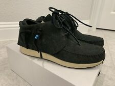 VISVIM FBT Veg Suede Black Moccasin Sneakers Sz EU 43 | US 10 Brand New With Box