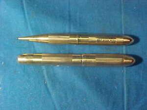 Vintage W.S.HICKS Original 14K GOLD FOUNTAIN PEN + PENCIL SET 22gms