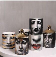 Lina Cavalieri Image on Ceramic Jars with Gold Enamel Lid - Various Designs