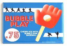 Baseball Glove Ice Cream Sign FRIDGE MAGNET (2.5 x 3.5 inches)