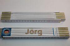 Zollstock mit Namen  JÖRG     Lasergravur 2 Meter Handwerkerqualität