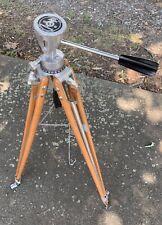 "Rare Bolex Camera Tripod Wood Legs Vintage Beautiful 60"""