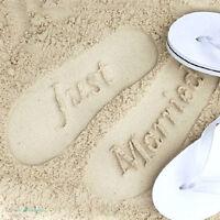 Just Married Mr & Mrs Bride & Groom Wedding Honeymoon Gift Flip Flops Sandals