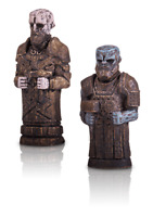 """God of War Stone Mason Collector's Edition Exclusive 2"""" Huldra Brothers Carvings"""
