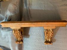 Vintage Gold Brushed Ornate Resin 23� Wall Shelf Farmhouse Victorian Home Decor