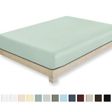 California Design Den 400 Thread Count 100% Cotton 1 Fitted Sheet Only, Mod Spa