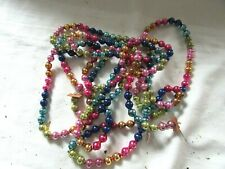 """Vintage Multi Colored Glass Garland 72"""""""