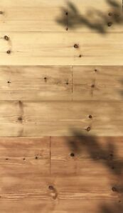 """Wide Pine floor boards 8.5""""/214mm wide flooring, tongue and grooved, £35 per sqm"""