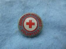 WWII Red Cross Pin Emergency Corps Embroidered Gray ARC Volunteer PB WW2