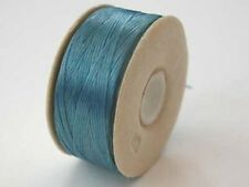 one spool of TURQUOISE blue nymo B beading thread - 72 yds (66m)