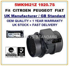 PEUGEOT 306 307 406 2.0hdi 90/110 MASSA Sensore misuratore flusso d'aria 5wk9621 19207s