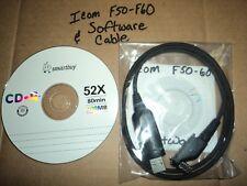 Icom CS-F50 Programming SOFTWARE & CABLE - IC-F50/IC-F60/IC-F51/ IC - F61 V 3.0