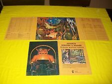 DUNGEON MASTERS SCREEN DUNGEONS & DRAGONS AD&D TSR 9024 - 14 - 2 / 4 PANEL SET