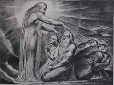 William BLAKE : La Bénédiction - GRAVURE N&B - Livre de Job - Bible #1902