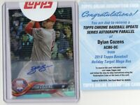 2018 Topps Chrome Update DYLAN COZENS SP Rookie Auto Insert Card #HMT57 Phillies