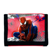 Amazing Spider-Man Red/Black Trifold Wallet By Marvel Spiderman -Boys/Girls/Kids